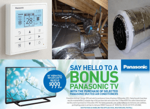 Panasonic air conditioning perth special